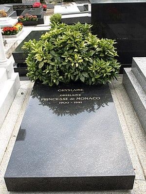 Ghislaine Dommanget - Grave of Ghislaine, Princess of Monaco