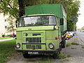 Green IFA L60 truck in Nowa Huta district in Kraków.jpg