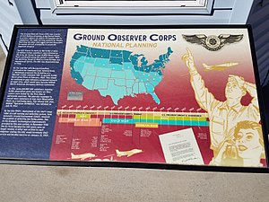 Ground Observer Corps - Map of Ground Observer Corps stations