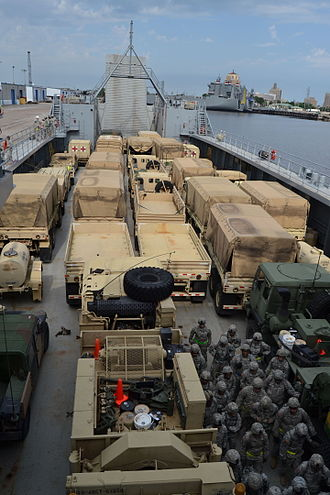 Port of Beaumont - Ground soldiers take to the sea; provide expeditionary sustainment