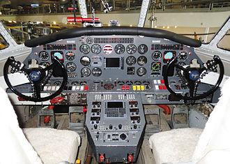 Grumman HU-16 Albatross - Cockpit of Grumman Albatross N44RD which flew around the world in 1997