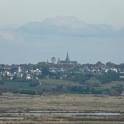 Guerande and a hillside view of the salt marshes