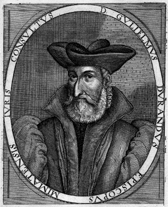 Guillaume Durand - 17th century depiction of Durand.