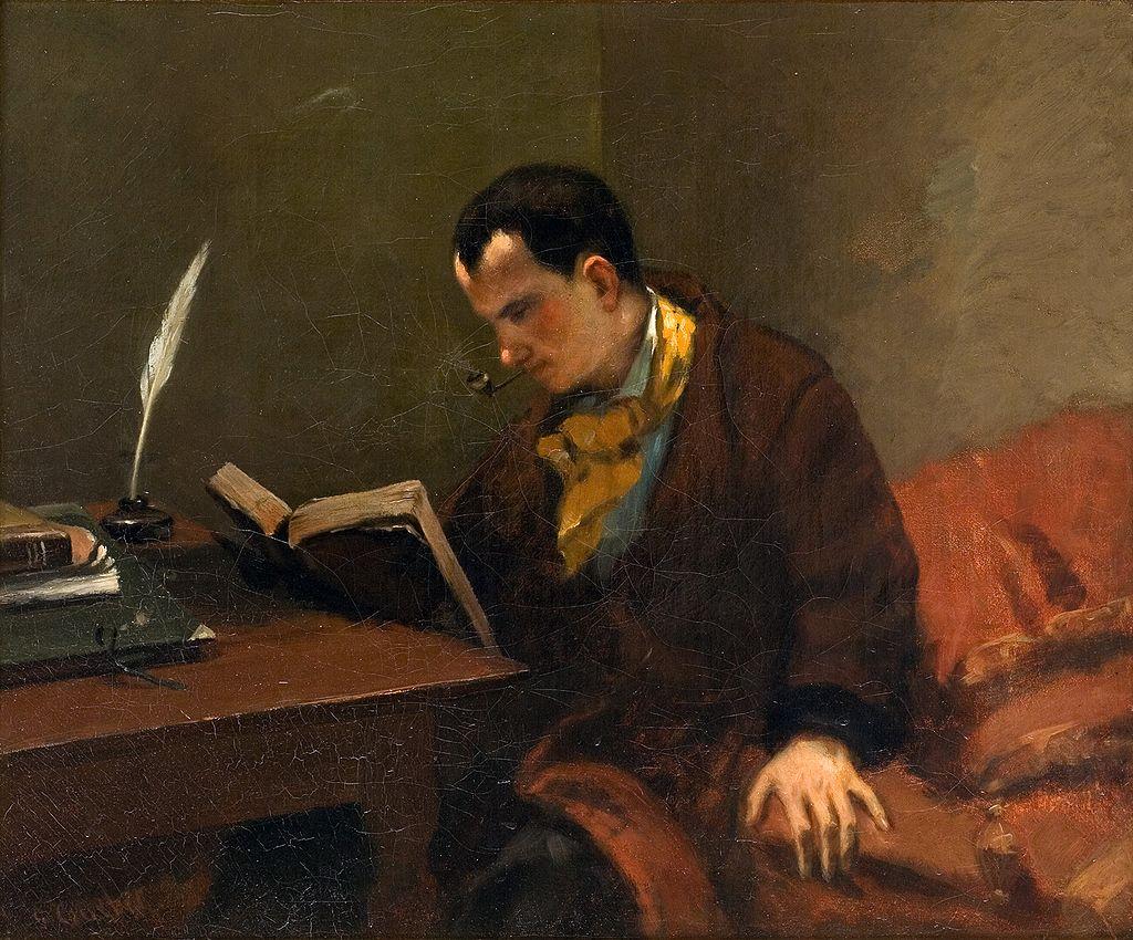 Portrait de Charles Baudelaire, Gustave Courbet, 1848 - Cultea