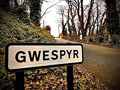 Gwespyr Village sign.jpg
