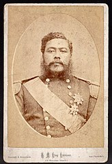 H. M. King Kalakaua of the Hawaiian Islands, photograph by Bradley & Rulofson.jpg