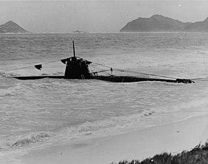 Kazuo Sakamaki - Sakamaki's HA-19, which ran aground