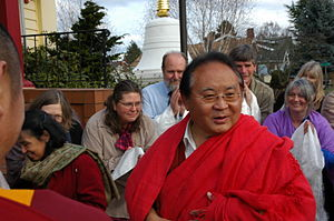 HE Sogyal Rinpoche arrives to speak about Budd...