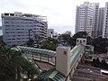 HK 香港南區 Southern District 薄扶林道 Pokfulam Road 瑪麗醫院 Queen Mary Hospital footbridge evening June 2019 SSG 03.jpg