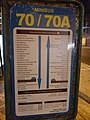 HK Kln 九龍 Kowloon 界限街 Boundary Street 小巴站 public light minibus 70 n 70A stop sign night January 2020 SS2 02.jpg
