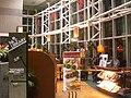 HK Kln Tong Tat Chee Avenue night 創新中心 InnoCentre Pacific Coffee interior Jan-2009 signs.JPG