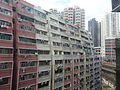 HK Shek Tong Tsui Queen's Road West 永華大廈 Wing Wah Mansion facade top July-2015 DSC.JPG