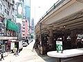 HK Tram tour view Causeway Bay 軒尼詩道 Hennessy Road 堅拿道行車天橋 Canal Road East flyover Bridge August 2018 SSG 05.jpg