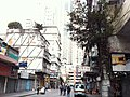 HK Yau Ma Tei 油麻地 Temple Street 廟街 banyan tree wall morning am Jan-2014.JPG
