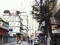 HK Yau Ma Tei 油麻地 Temple Street 廟街 banyan tree wall morning am Jan-2014.JPG