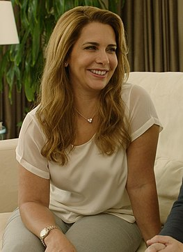 HRH Princess Haya of Jordan meets with Tracy Edwards MBE (cropped).jpg