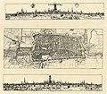 HUA-212020-Plattegrond van de stad Utrecht met directe omgeving met gestileerde weergave van het stratenplan met de bebouwing en het grondgebruik in opstand met .jpg