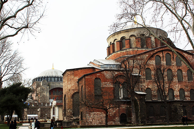 Fișier:Hagia Irene with Hagia Sophia at the back, İstanbul.JPG