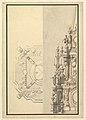 Half Plan and Half Elevation for a Catafalque for Margarita Louisa, Gran Duchess of Tuscany (d. 1721) MET DP820087.jpg