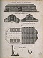 Hamburg's floating baths; plans and elevations, and detail o Wellcome V0012726.jpg