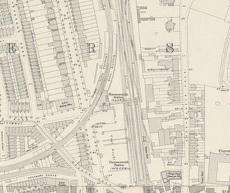 Hammersmith (Grove Road) railway station - Hammersmith (Grove Road) station, 1894