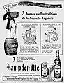 Hampden Ale ad en français in La Justice (30 Septembre 1948).jpg
