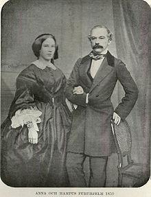 Johan hus furuhjelm mit seiner frau anna aufgenommen 1859 in