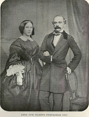 Johan Hampus Furuhjelm - Johan Hampus and Anna Furuhjelm. 1859.