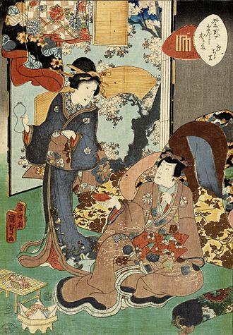 Utagawa Kunisada II - Image: Hanachirusato LACMA M.2000.42.4