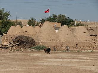 "Harran - Traditional mud brick ""beehive"" houses in the village of Harran, Turkey"
