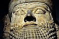 Head of a lamassu from the palace of Esarhaddon, from Nimrud, Iraq, 7th century BC. The British Museum.jpg