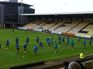 2011–12 Heart of Midlothian F.C. season - Hearts warm up before Livingston friendly