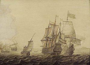 Heerman Witmont - Action between Dutch and English Ships