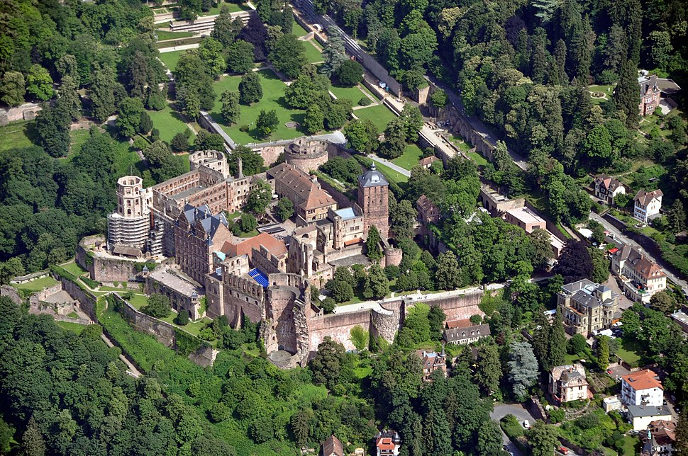 Heidelberg Schloss Luftbild 2