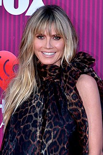 Heidi Klum German-American model, television personality, singer and actress