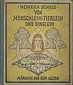 Heinrich Schulz - Von Menschlein, Tierlein und Dinglein. Märchen aus dem Alltag, 1924.jpg