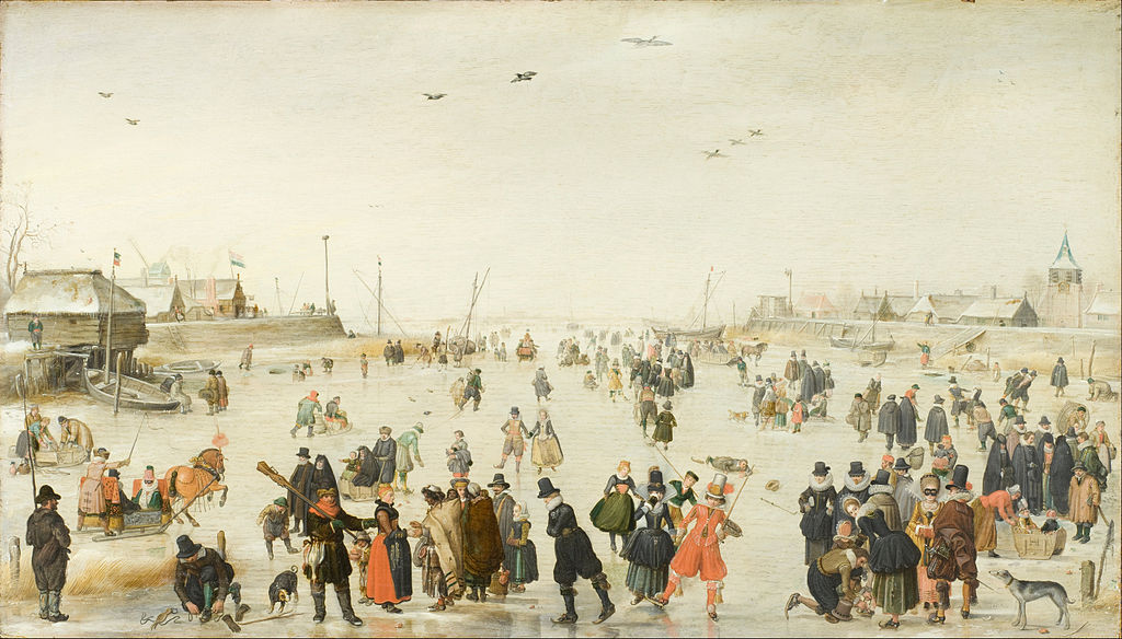 Scène hivernale sur un canal gelé (Winter Scene on a Frozen Canal) d'Avercamp en 1620