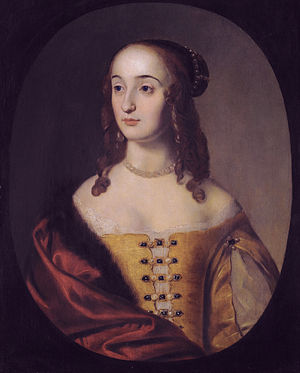 Henriette Marie princess Palatine (1626-1651), studio of Gerrit van Honthorst