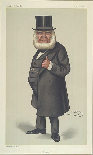 "Peace movement - ""Peace"". Caricature of Henry Richard, a prominent advocate of pacifism in the mid-19th century."