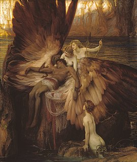 <i>The Lament for Icarus</i> painting by Herbert James Draper