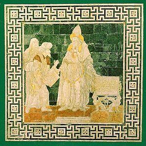 {{nl|1=Hermes geeft met zijn rechterhand een (...