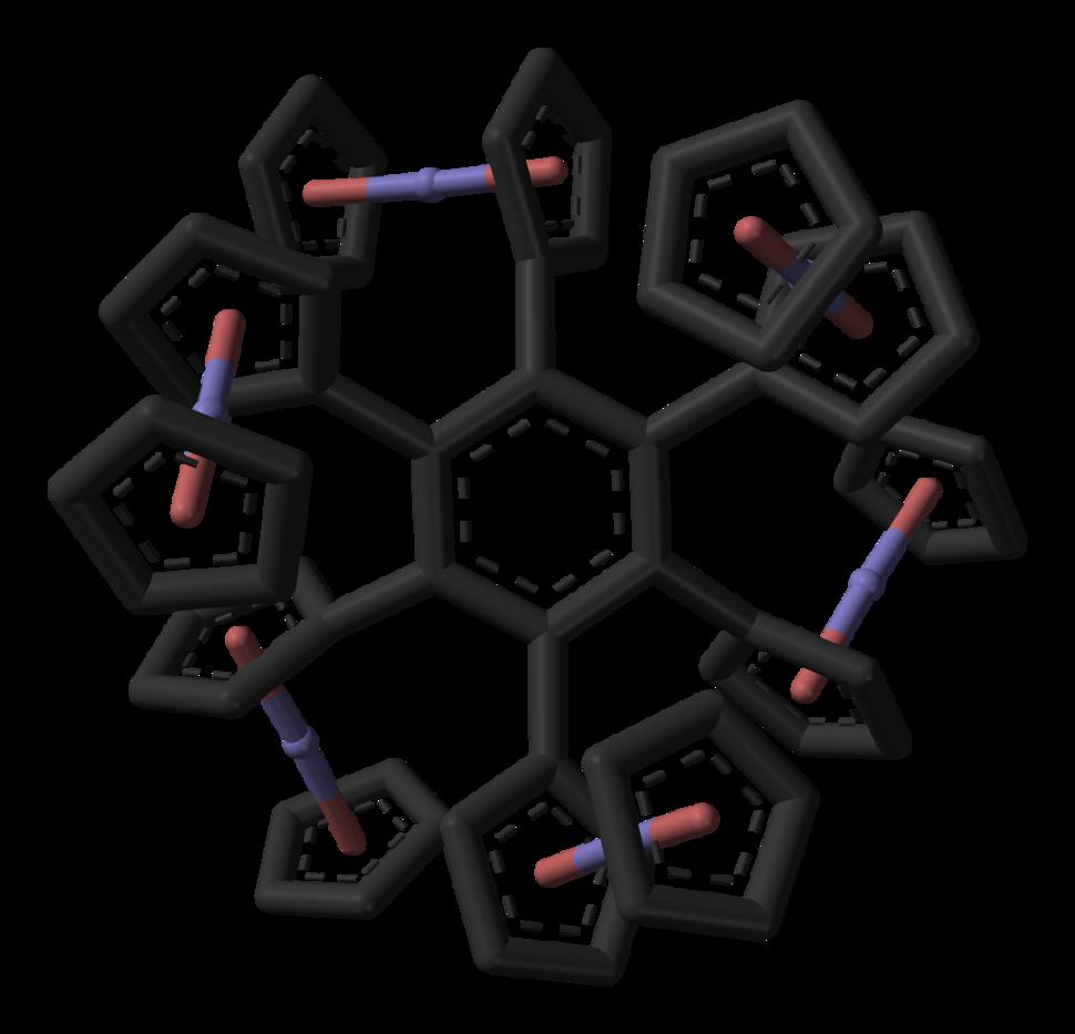 Hexaferrocenylbenzene-3D-sticks