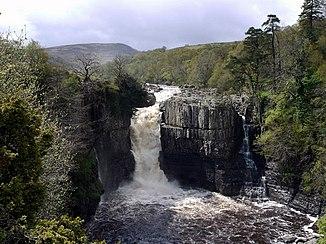Der Wasserfall High Force nach starkem Niederschlag