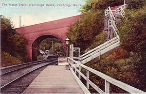High Rocks railway station - The original High Rocks halt