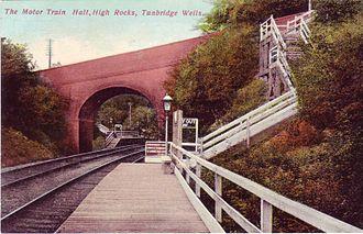 High Rocks railway station - The original High Rocks halt