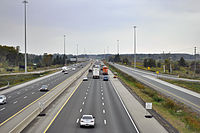 Highway 401 from Wellington Road in London, Looking West Towards Highway 402.jpg
