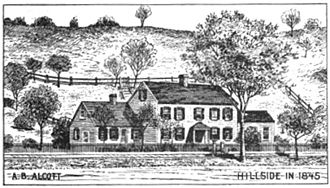 The Wayside - The Hillside in 1845