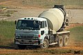 Hino concrete mixer at DAC (24785686443).jpg