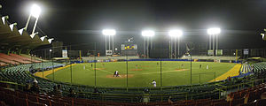 Hiram Bithorn Stadium - View of the stadium during a baseball game