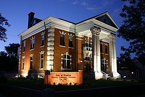 Wyoming Governor's Mansion - Historic Governor's Mansion illuminated at night